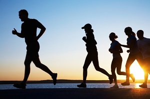 Picture of people jogging